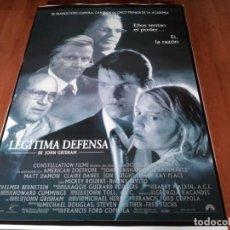 Cine: LEGÍTIMA DEFENSA - MATT DAMON, DANNY DEVITO, CLAIRE DANES, JON VOIGHT - POSTER ORIGINAL U.I.P 1997. Lote 236784790