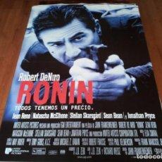 Cine: RONIN - ROBERT DE NIRO, JEAN RENO, NATASCHA MCELHONE, SEAN BEAN - POSTER ORIGINAL U.I.P 1998. Lote 236785470