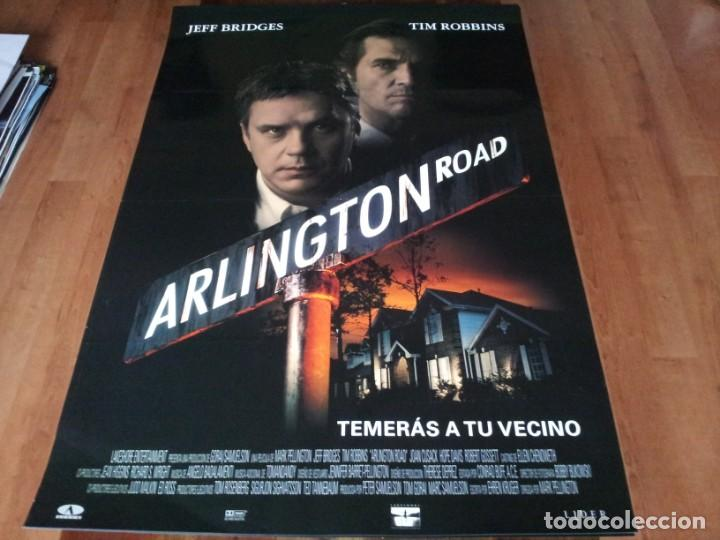 ARLINGTON ROAD - JEFF BRIDGES, TIM ROBBINS, JOAN CUSACK, HOPE DAVIS - POSTER ORIGINAL AURUM 1999 (Cine - Posters y Carteles - Suspense)