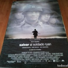 Cinema: SALVAR AL SOLDADO RYAN - TOM HANKS, TOM SIZEMORE, EDWARD BURNS, MATT DAMON - POSTER ORIGINAL 1998. Lote 236794310