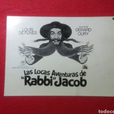 """Cine: CARTEL DE CINE ,LAS LOCAS AVENTURAS DE """"RABBI"""" JACOB ,LUIS DE FUNES. Lote 236795000"""