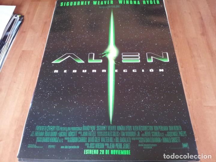 ALIEN RESURRECCIÓN - SIGOURNEY WEAVER, WINONA RYDER, RON PERLMAN - POSTER ORIGINAL FOX 1997 (Cine - Posters y Carteles - Ciencia Ficción)