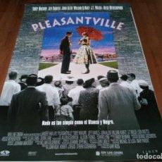 Cine: PLEASANTVILLE - TOBEY MAGUIRE,JEFF DANIELS,REESE WITHERSPOON,JOAN ALLEN - POSTER ORIGINAL AURUM 1998. Lote 236802450