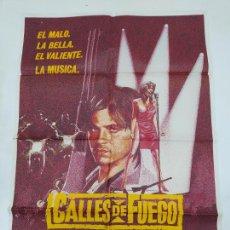 Cine: CARTEL DE LA PELICULA CALLES DE FUEGO. DIANE LANE. MICHAEL PARE. WALTER HILL. TDKP23A. Lote 236821330