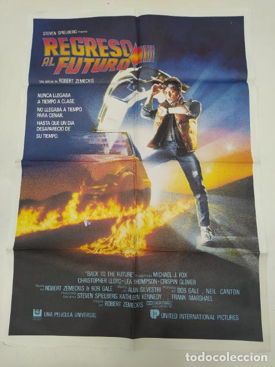 CARTEL DE LA PELICULA REGRESO AL FUTURO. ORIGINAL. MICHAEL J. FOX. STEVEN SPIELBERG. TDKP23A (Cine - Posters y Carteles - Ciencia Ficción)