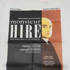 Cine: CARTEL DE LA PELICULA MONSIEUR HIRE. MICHEL BLANC, SANDRINE BONNAIRE. TDKP23A. Lote 236827035