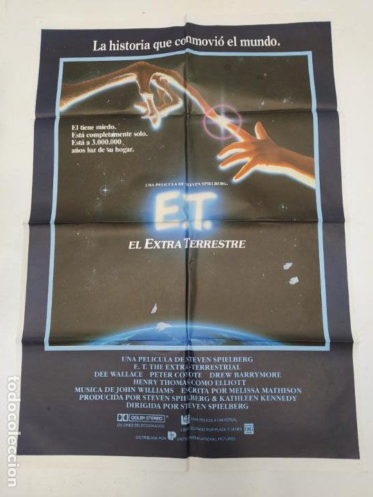 CARTEL DE LA PELICULA E.T. EL EXTRATERRESTRE. STEVEN SPIELBERG. TDKP23A (Cine - Posters y Carteles - Ciencia Ficción)