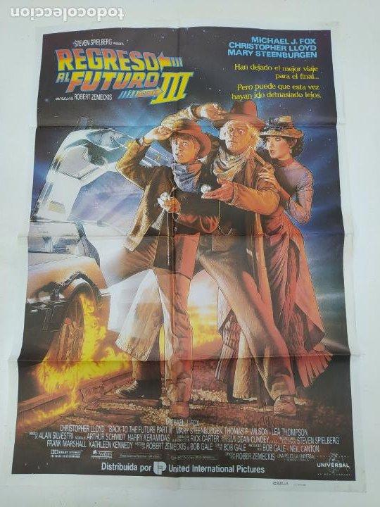 CARTEL DE LA PELICULA REGRESO AL FUTURO III. ORIGINAL. MICHAEL J. FOX. STEVEN SPIELBERG. TDKP23A (Cine - Posters y Carteles - Ciencia Ficción)