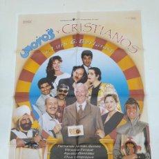Cine: CARTEL PELICULA MOROS Y CRISTIANOS FERNANDO FERNÁN GÓMEZ VERÓNICA FORQUÉ LUIS G. BERLANGA. TDKP22G. Lote 236830190