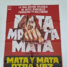 Cine: CARTEL DE LA PELICULA MATA Y MATA OTRA VEZ. JAMES RYAN, CHARLOTTE MICHELLE, NORMAN COMBES. TDKP22G. Lote 236831055