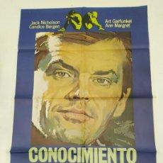 Cine: CARTEL DE LA PELICULA CONOCIMIENTO CARNAL. JACK NICHOLSON, CANDICE GERGEN, ART GARAFUNKEL. TDKP22G. Lote 236831180