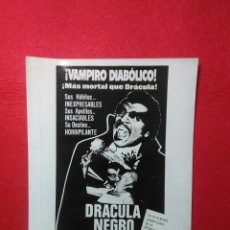 Cine: CARTEL DE CINE ,VAMPIRO DIABOLICO ,DRACULA NEGRO .18X24CM. Lote 236882875