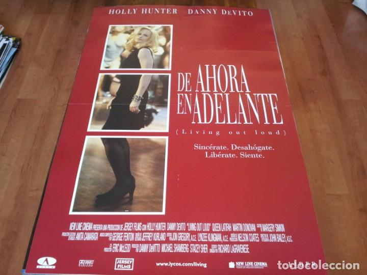DE AHORA EN ADELANTE - HOLLY HUNTER, DANNY DEVITO, QUEEN LATIFAH - POSTER ORIGINAL AURUM 1998 (Cine - Posters y Carteles - Comedia)