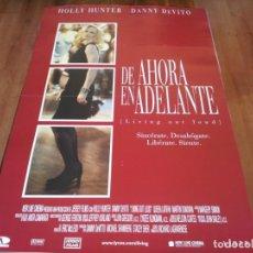 Cine: DE AHORA EN ADELANTE - HOLLY HUNTER, DANNY DEVITO, QUEEN LATIFAH - POSTER ORIGINAL AURUM 1998. Lote 236943485