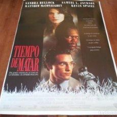 Cine: TIEMPO DE MATAR - MATTHEW MCCONAUGHEY,SANDRA BULLOCK,SAMUEL L. JACKSON - POSTER ORIGINAL WARNER 1996. Lote 236944650