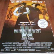 Cine: WILD WILD WEST - WILL SMITH, KEVIN KLINE, KENNETH BRANAGH, SALMA HAYEK - POSTER ORIGINAL WARNER 1999. Lote 236946010
