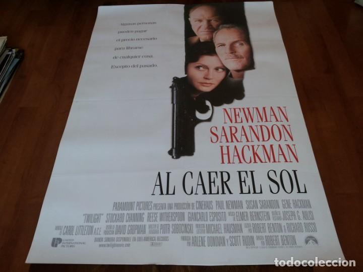 AL CAER EL SOL - PAUL NEWMAN, SUSAN SARANDON, GENE HACKMAN - POSTER ORIGINAL U.I.P 1998 (Cine - Posters y Carteles - Suspense)
