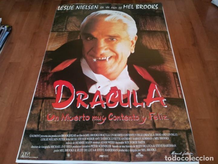 DRÁCULA, UN MUERTO MUY CONTENTO Y FELIZ - LESLIE NIELSEN, MEL BROOKS - POSTER ORIGINAL COLUMBIA 1995 (Cine - Posters y Carteles - Comedia)