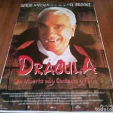 Cine: DRÁCULA, UN MUERTO MUY CONTENTO Y FELIZ - LESLIE NIELSEN, MEL BROOKS - POSTER ORIGINAL COLUMBIA 1995. Lote 236956185