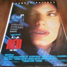 Cine: LA RED THE NET - SANDRA BULLOCK, JEREMY NORTHAM, DENNIS MILLER - POSTER ORIGINAL COLUMBIA 1995. Lote 280963288