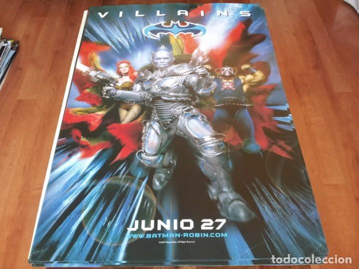 BATMAN Y ROBIN - VILLANOS - POSTER ORIGINAL WARNER 1997 PREVIO (Cine - Posters y Carteles - Ciencia Ficción)