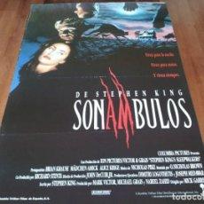 Cine: SONÁMBULOS DE STEPHEN KING - MÄDCHEN AMICK, BRIAN KRAUSE,ALICE KRIGE - POSTER ORIGINAL COLUMBIA 1992. Lote 236963825