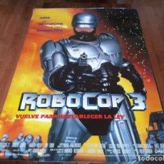 Cine: ROBOCOP 3 - ROBERT JOHN BURKE, NANCY ALLEN, RIP TORN, MAKO - POSTER ORIGINAL COLUMBIA 1993. Lote 236964445