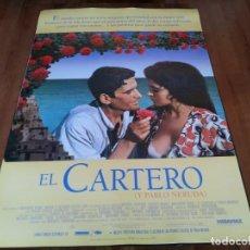 Cine: EL CARTERO Y PABLO NERUDA - PHILIPPE NOIRET, MASSIMO TROISI - POSTER ORIGINAL LAUREN FILMS 1994. Lote 236987810