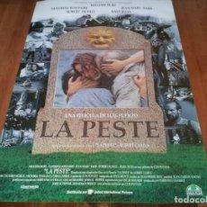 Cine: LA PESTE - WILLIAM HURT, SANDRINE BONNAIRE, ROBERT DUVALL, RAUL JULIA - POSTER ORIGINAL U.I.P 1992. Lote 236991390