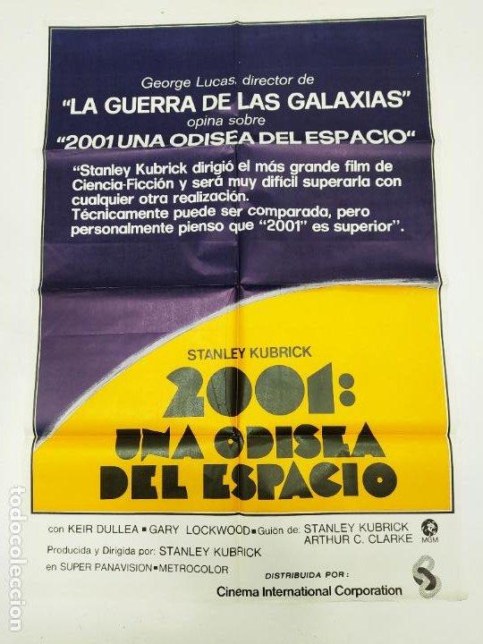 CARTEL ORIGINAL DE LA PELICULA 2001 UNA ODISEA DEL ESPACIO. KEIR DULLEA. STANLEY KUBRICK. TDKP22E (Cine - Posters y Carteles - Ciencia Ficción)