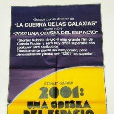 Cine: CARTEL ORIGINAL DE LA PELICULA 2001 UNA ODISEA DEL ESPACIO. KEIR DULLEA. STANLEY KUBRICK. TDKP22E. Lote 237006180