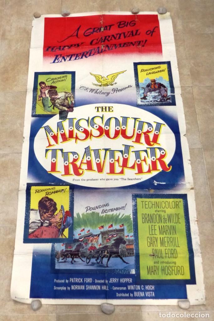 THE MISSOURI TRAVELER - BRANDON DE WILDE, LEE MARVIN, CARTEL AMERICANO GRANDE 198X104 CM. - AÑO 1958 (Cine - Posters y Carteles - Westerns)