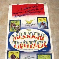 Cine: THE MISSOURI TRAVELER - BRANDON DE WILDE, LEE MARVIN, CARTEL AMERICANO GRANDE 198X104 CM. - AÑO 1958. Lote 237141090