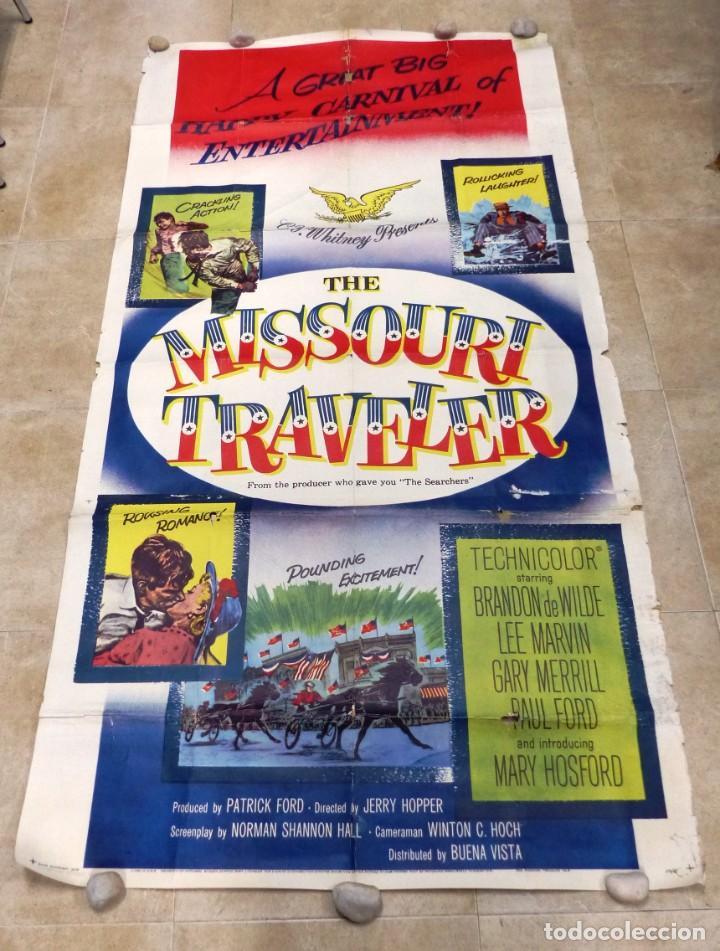Cine: The Missouri Traveler - BRANDON DE WILDE, LEE MARVIN, CARTEL AMERICANO GRANDE 198X104 CM. - AÑO 1958 - Foto 2 - 237141090
