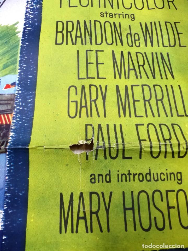 Cine: The Missouri Traveler - BRANDON DE WILDE, LEE MARVIN, CARTEL AMERICANO GRANDE 198X104 CM. - AÑO 1958 - Foto 7 - 237141090