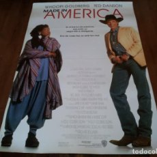 Cine: MADE IN AMERICA - WHOOPI GOLDBERG, TED DANSON, WILL SMITH, NIA LONG - POSTER ORIGINAL WARNER 1993. Lote 237143245
