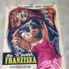 Cine: AU REVOIR FRANZISKA - RUTH LEUWERIK, CARTEL LITOGRAFIA FRANCES GRANDE 160X120 CM. - AÑOS 1950. Lote 237143295