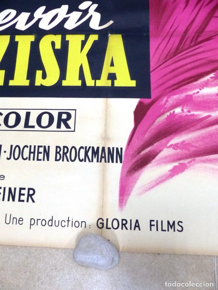 Cine: AU REVOIR FRANZISKA - RUTH LEUWERIK, CARTEL LITOGRAFIA FRANCES GRANDE 160X120 CM. - AÑOS 1950 - Foto 4 - 237143295