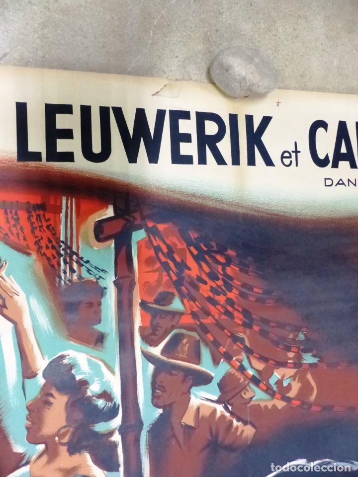 Cine: AU REVOIR FRANZISKA - RUTH LEUWERIK, CARTEL LITOGRAFIA FRANCES GRANDE 160X120 CM. - AÑOS 1950 - Foto 13 - 237143295