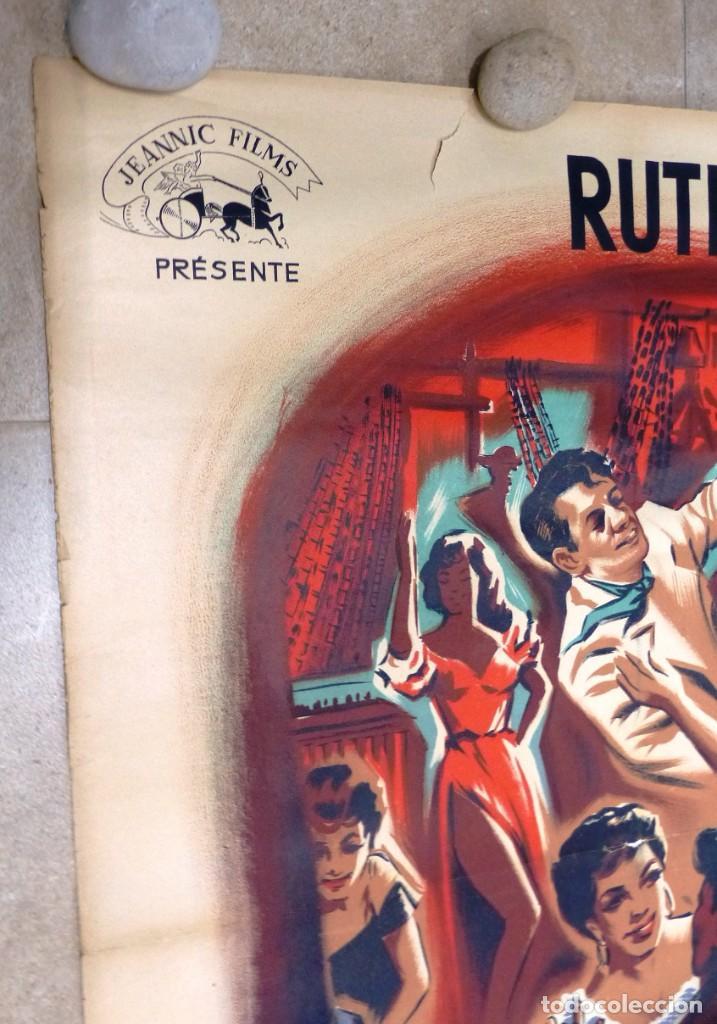 Cine: AU REVOIR FRANZISKA - RUTH LEUWERIK, CARTEL LITOGRAFIA FRANCES GRANDE 160X120 CM. - AÑOS 1950 - Foto 15 - 237143295