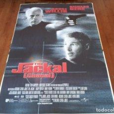 Cine: THE JACKAL CHACAL - BRUCE WILLIS, RICHARD GERE,SIDNEY POITIER,D. VENORA - POSTER ORIGINAL U.I.P 1997. Lote 237143885