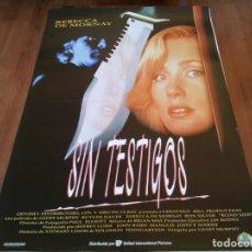 Cine: SIN TESTIGOS - REBECCA DE MORNAY,RUTGER HAUER,RON SILVER,JONATHAN BANKS - POSTER ORIGINAL ARABA 1993. Lote 237145445
