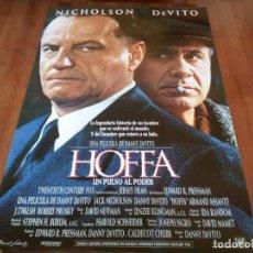 Cine: HOFFA, UN PULSO AL PODER - JACK NICHOLSON, DANNY DEVITO, ARMAND ASSANTE - POSTER ORIGINAL FOX 1992. Lote 237148465