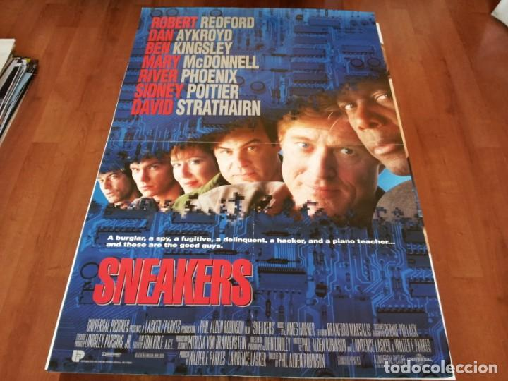 SNEAKERS - ROBERT REDFORD, MARY MCDONNELL,SIDNEY POITIER - POSTER ORIGINAL INGLES U.I.P 1992 (Cine - Posters y Carteles - Suspense)