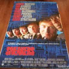 Cine: SNEAKERS - ROBERT REDFORD, MARY MCDONNELL,SIDNEY POITIER - POSTER ORIGINAL INGLES U.I.P 1992. Lote 237150945