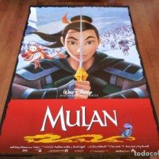 Cine: MULAN - ANIMACION - POSTER ORIGINAL DISNEY 1998. Lote 278513053