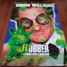 Cine: FLUBBER Y EL PROFESOR CHIFLADO - ROBIN WILLIAMS, MARCIA GAY HARDEN - POSTER ORIGINAL DISNEY 1997. Lote 237152635