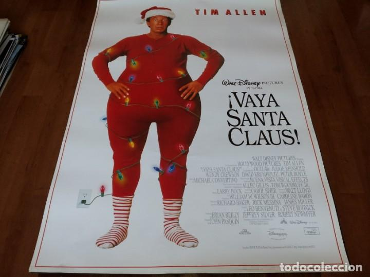 VAYA SANTA CLAUS! - TIM ALLEN, JUDGE REINHOLD, WENDY CREWSON - POSTER ORIGINAL DISNEY 1994 (Cine - Posters y Carteles - Infantil)