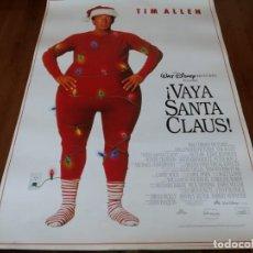 Cine: VAYA SANTA CLAUS! - TIM ALLEN, JUDGE REINHOLD, WENDY CREWSON - POSTER ORIGINAL DISNEY 1994. Lote 237153185