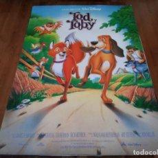 Cine: TOD Y TOBY - ANIMACIÓN - POSTER ORIGINAL DISNEY 1995. Lote 237154550